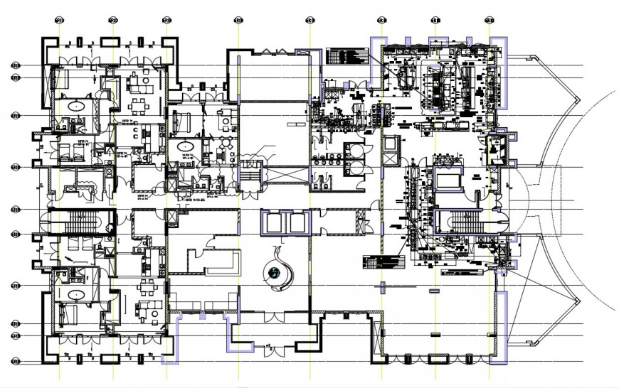 2d cad drawing of restaurant layout autocad software