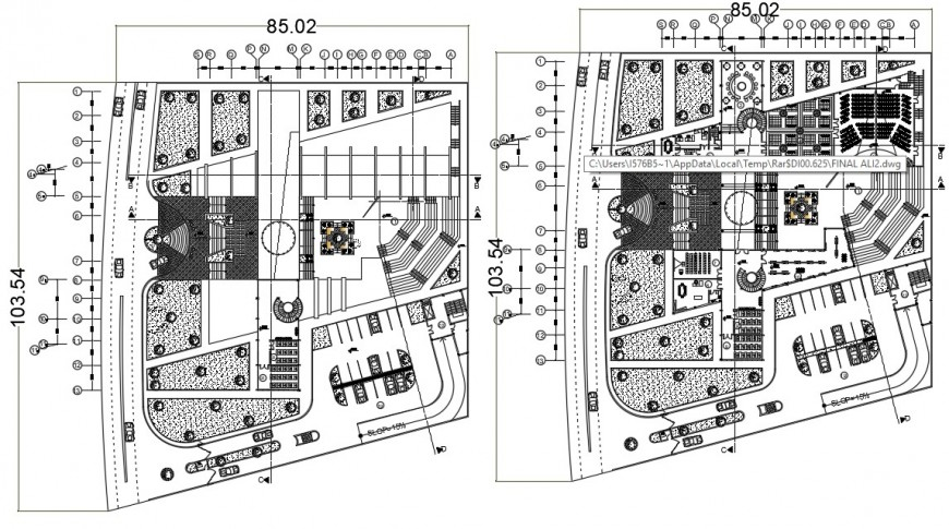 2d cad drawing of revised floor plan autocad software