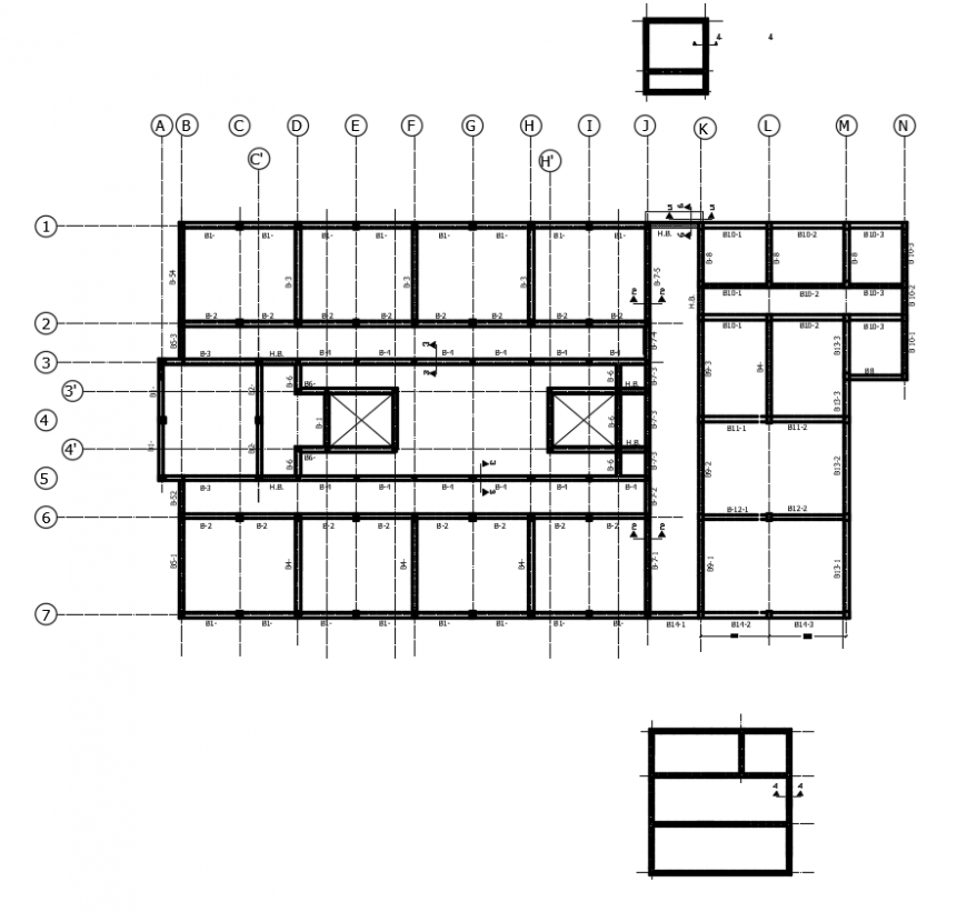 2d cad drawing of room beam plan autocad software