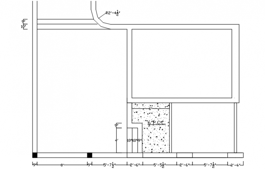 2d cad drawing of room plan Autocad software