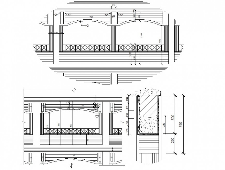 2d cad drawing of school gallery dwg file