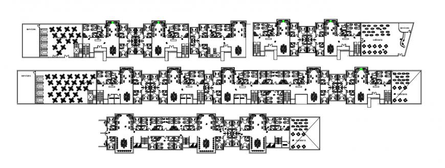 2d cad drawing of school hostel auto cad software