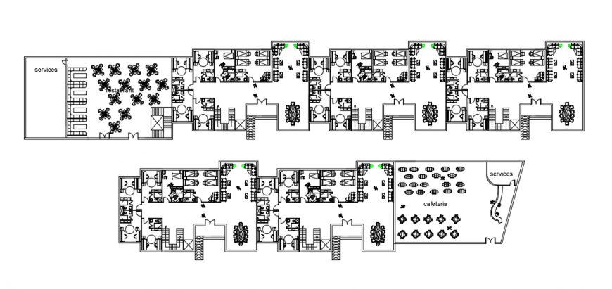 2d cad drawing of school hostel elevation auto cad software