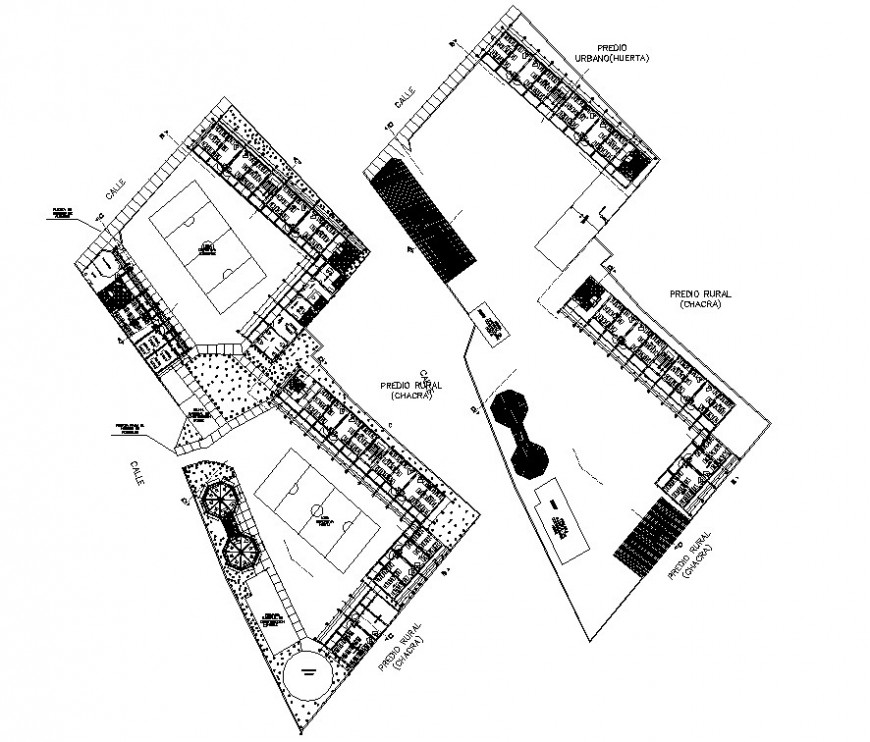 2d cad drawing of school layout plan autocad file