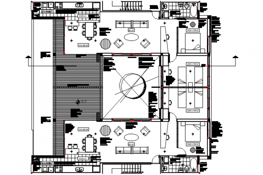 2d cad drawing of second  hotel room autocad software