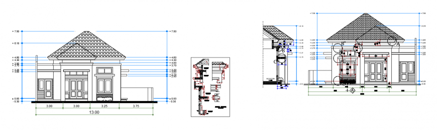 2d cad drawing of section apartment  autocad software