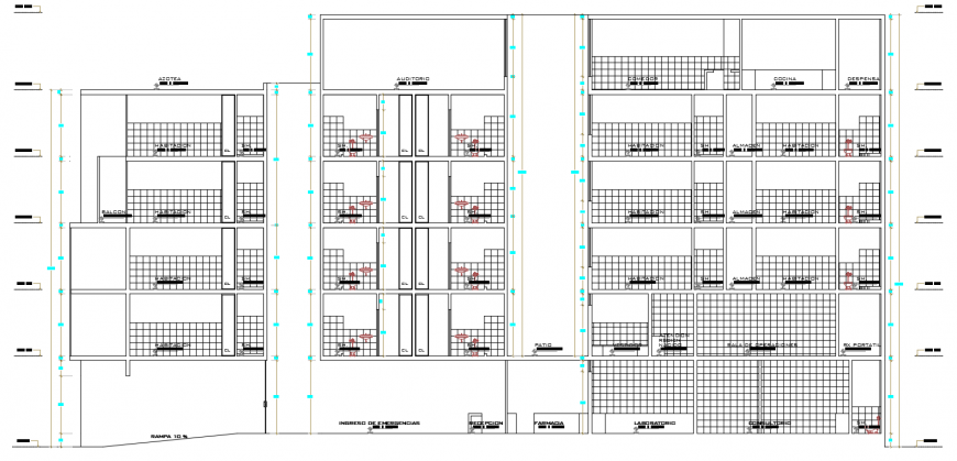 2d cad drawing of section clinic autocad software
