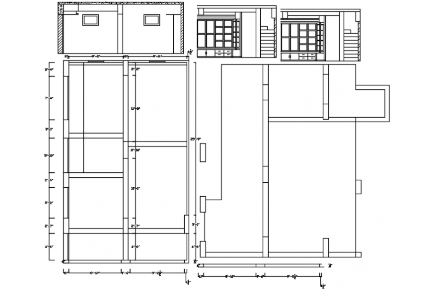 2d cad drawing of showroom layout design Autocad software