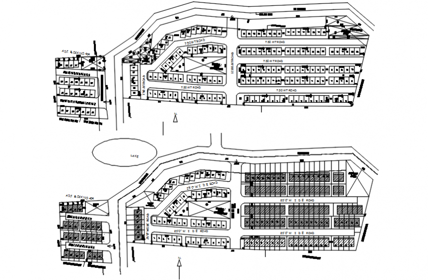 2d cad drawing of site plan Autocad software
