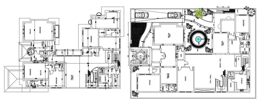 2d cad drawing of son villa architectural auto cad software