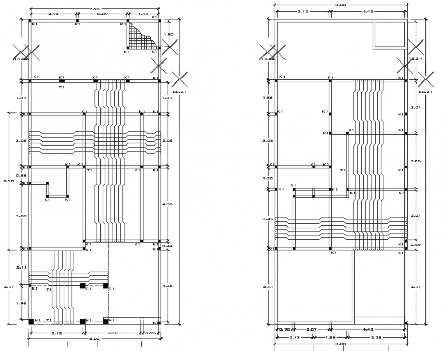 2d cad drawing of structure drawing plan autocad software