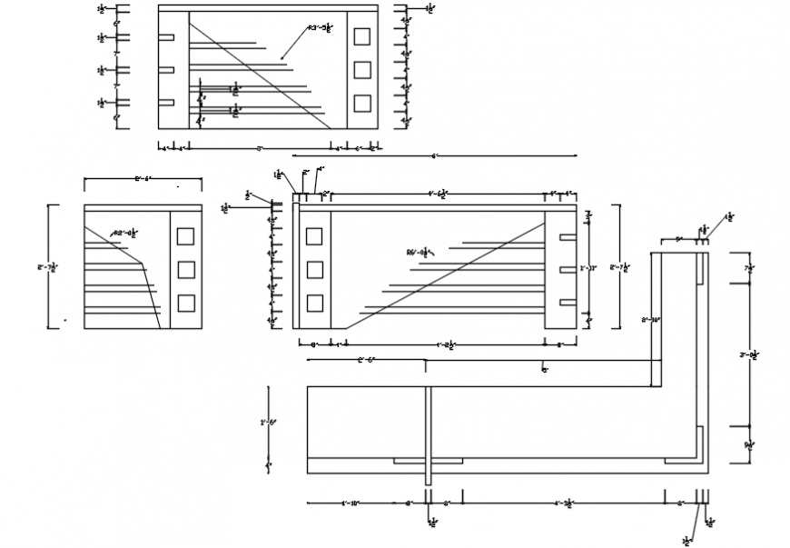 2d cad drawing of table AutoCAD software