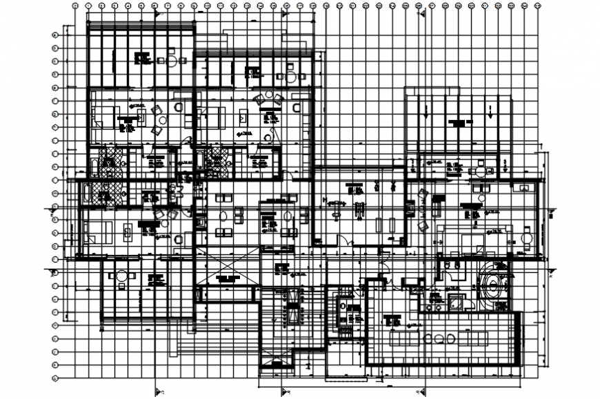 2d cad drawing of the apartment autocad software
