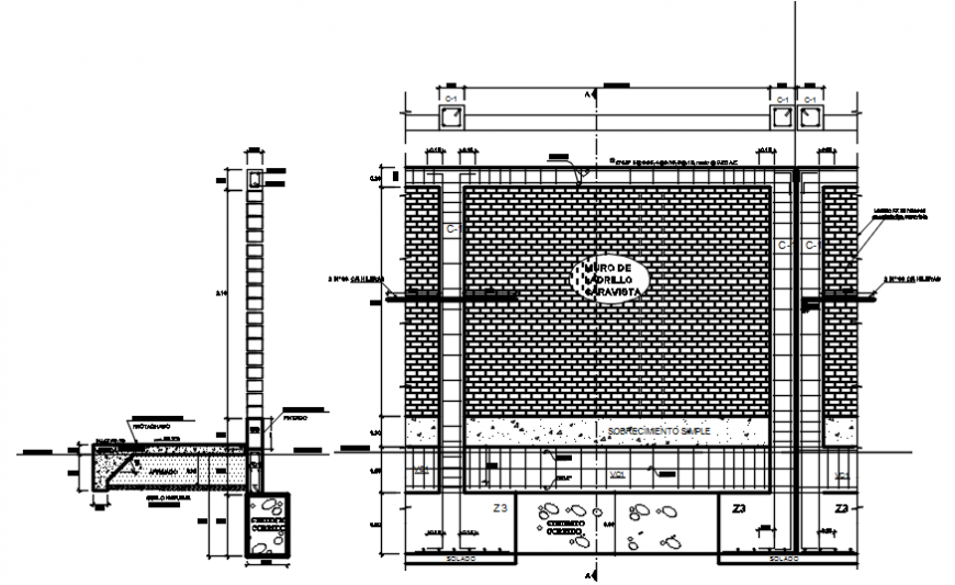 2d cad drawing of the main apartment under gate details elevation and door elevation