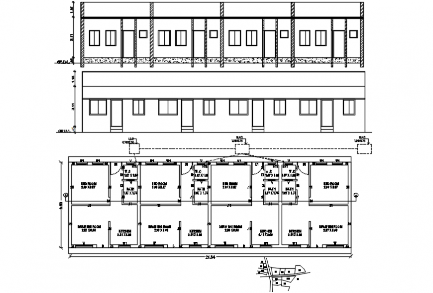 2d cad drawing of the plan  and exterior plan autocad software