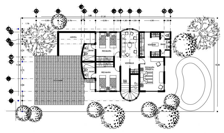 2d cad drawing of top view elevation auto cad software