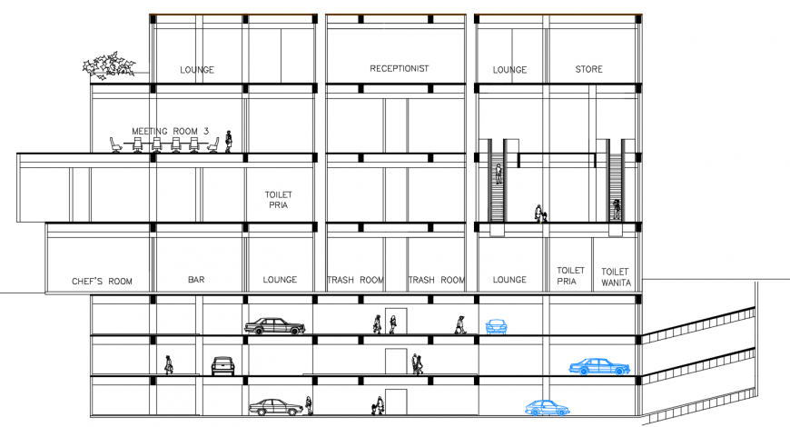 2d cad drawing of tower apartment autocad software