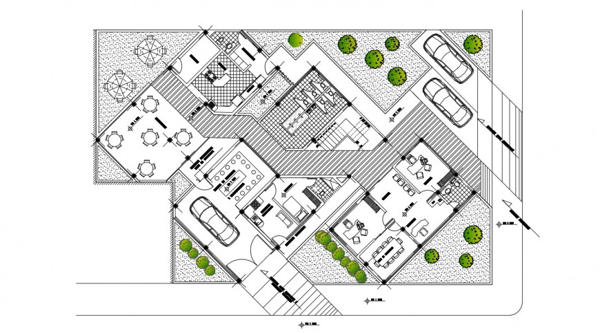 2d cad drawing of training center autocad software