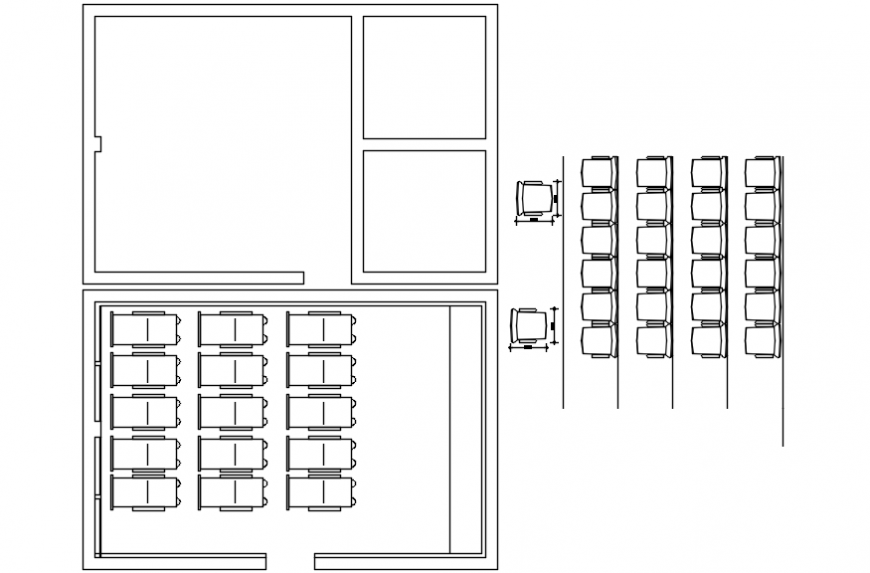 2d cad drawing of tv lounge autocad software