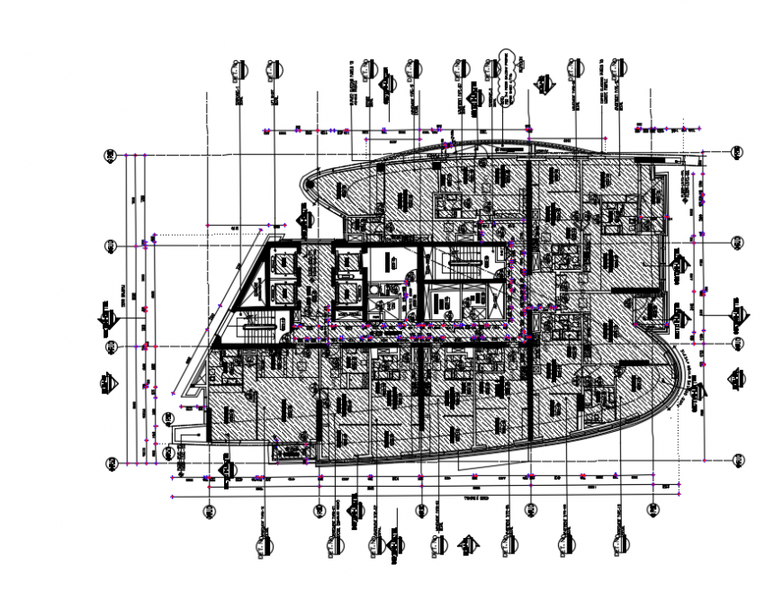 2d cad drawing of typical tower plan 2 autocad software