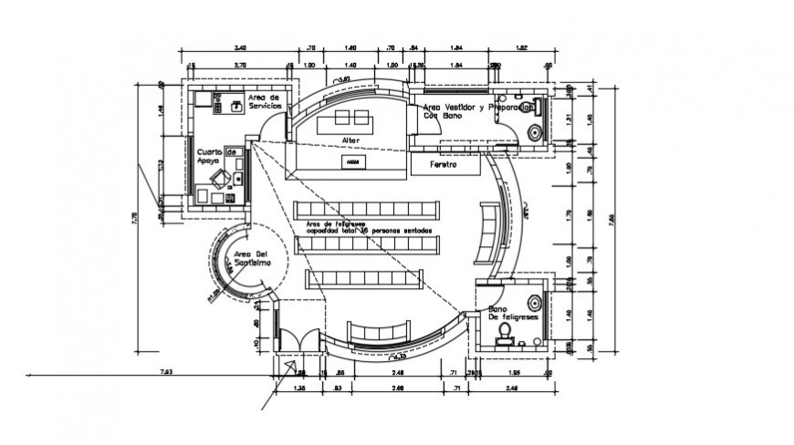 2d cad drawing of university classroom plan  auto cad software