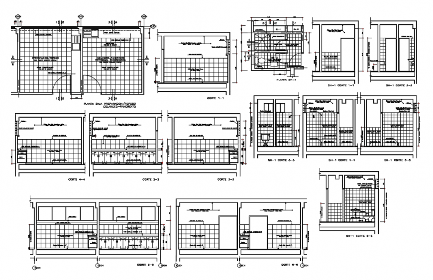 2d cad drawing of washroom detail auto cad software