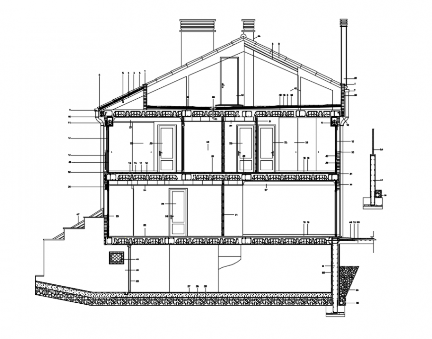 2d cad drawing of workplace section autocad software
