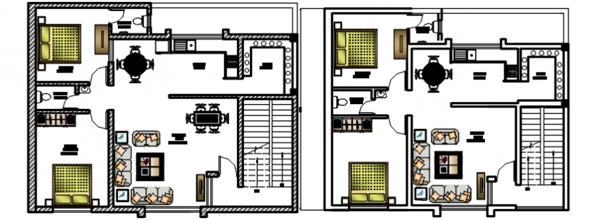 2d cad drawing plan house drawing  AutoCAD software