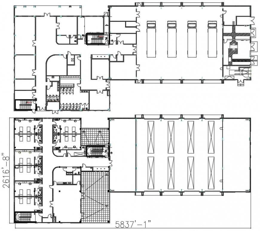2d cad drawing plan of warehouse industrial AutoCAD software