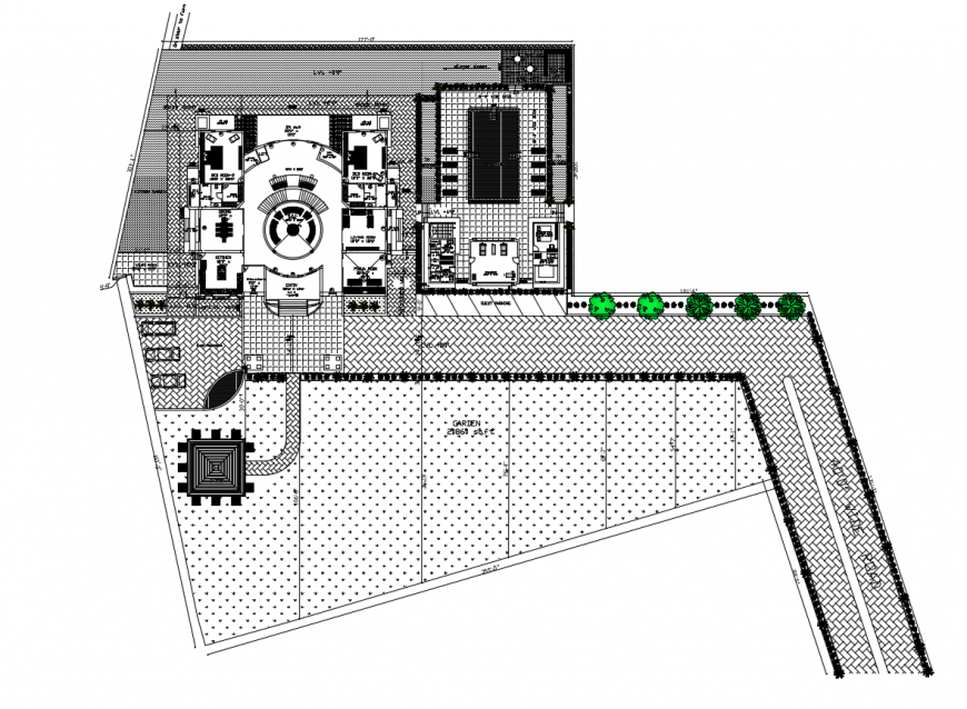 2d CAD drawings details of commercial building layout plan dwg file