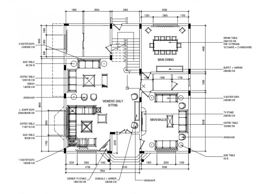 2d CAD drawings details of house floor plan AutoCAD software file