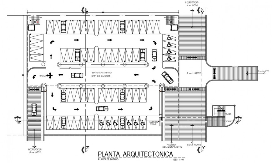 2d CAd drawings details of parking system autocad file
