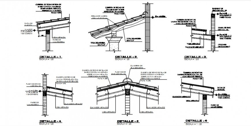 2d CAD drawings details of roofing structural blocks dwg AutoCAD file