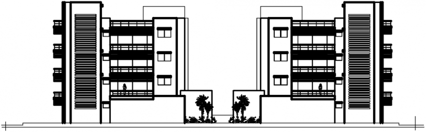 2d cad drawings of backside apartment autocad software