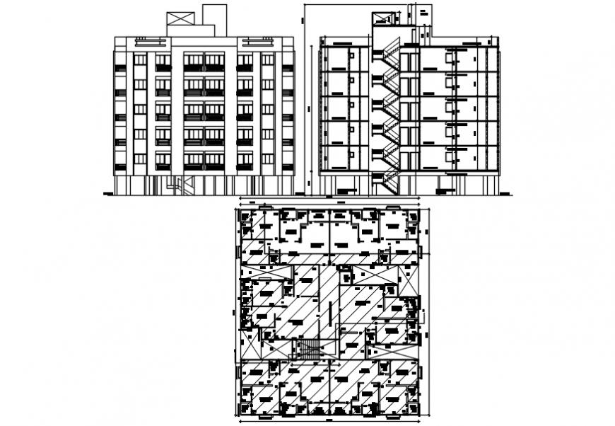 2d cad drawings of building  floor plan Auto CAD software
