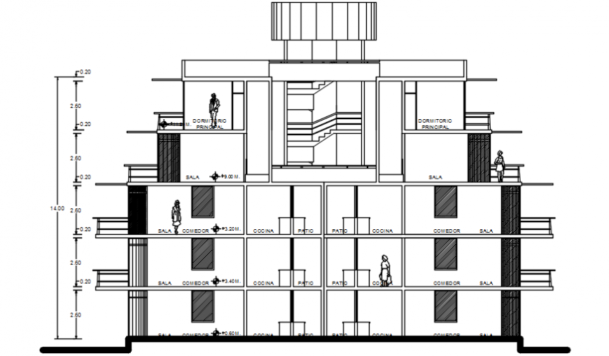 2d cad drawings of exterior back view autocad software