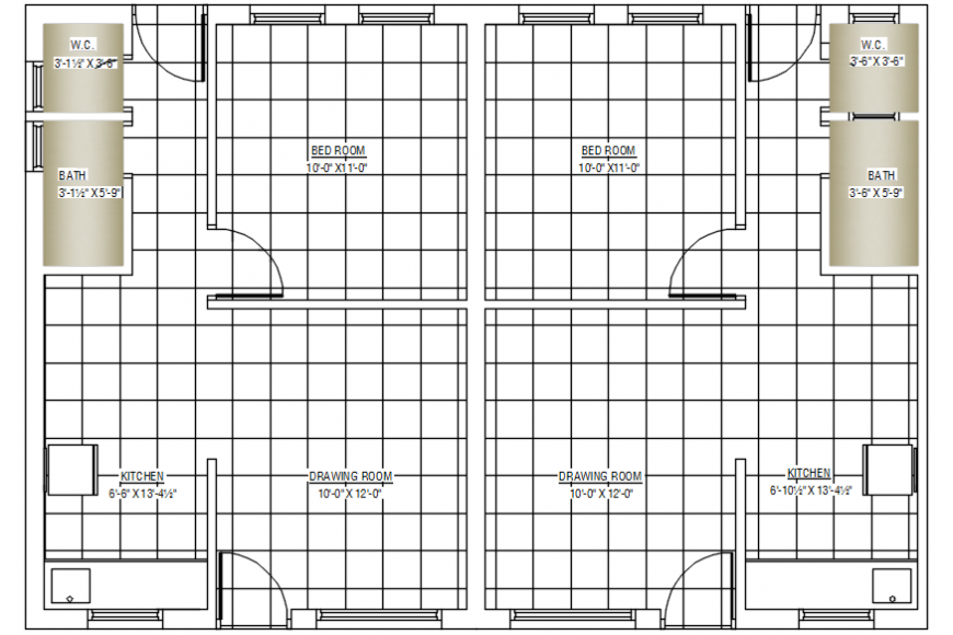 2d cad drawings of ground floor plan zoomed autocad software