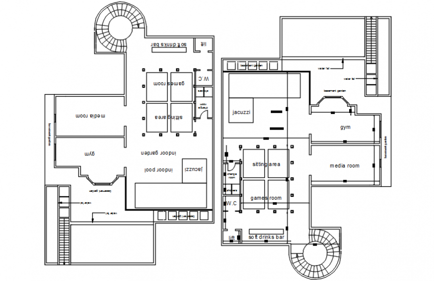 2d CAD drawings of housing blocks dwg autocad file
