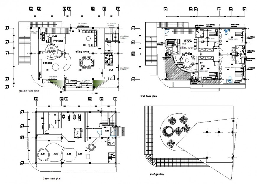 2d CAD drawings of living housing apartment autocad software file