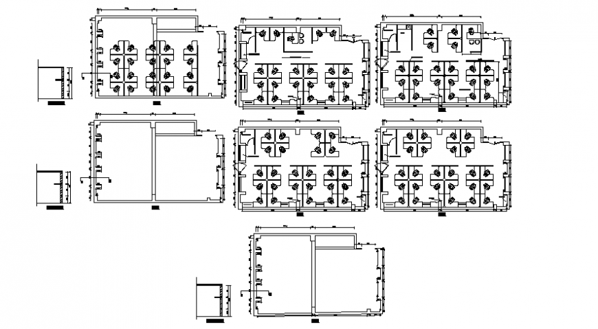 2d CAD drawings of office building block autocad file