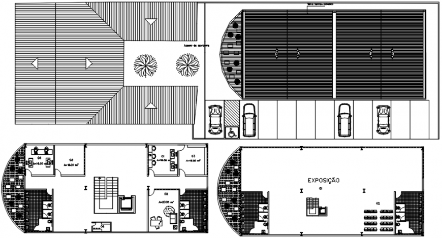2d cad drawings of restaurant outer-area autocad software