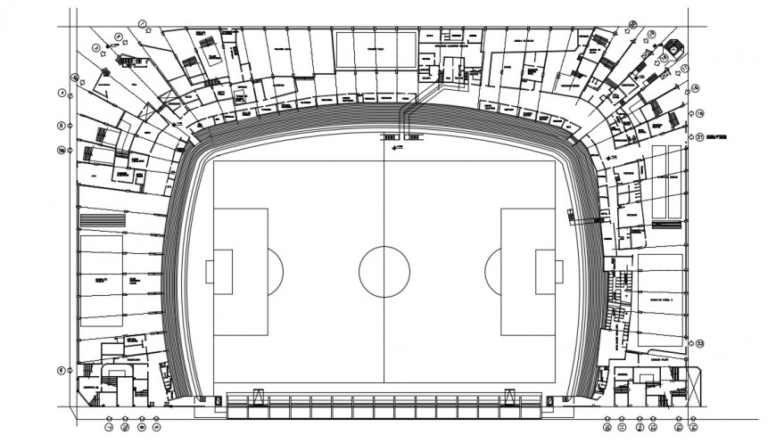 2d CAD drawings of sports playground area autocad software file