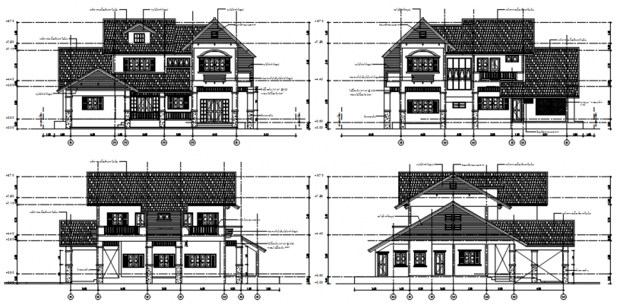 2d CAD elevation of building apartment autocad software file