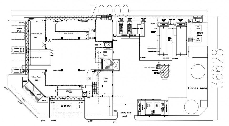 2d cad fuel handling system layout in dwg file