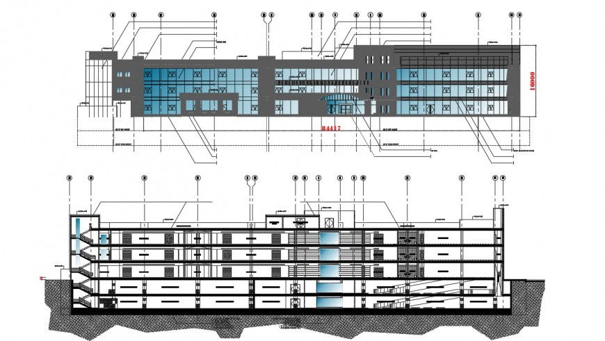 2d cad plan of a commercial building in autocad