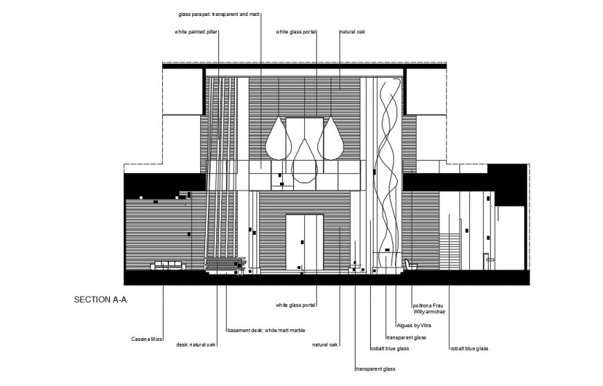2d CAD sectional details of house layout dwg file