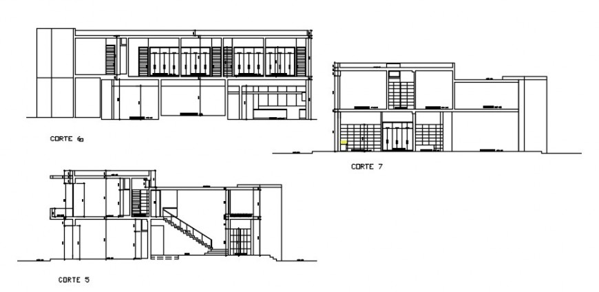 2d CAD sectional drawings detail of building blocks dwg autocad file