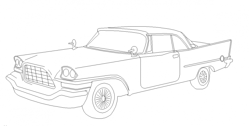 2D Car Block Detail In Autocad file