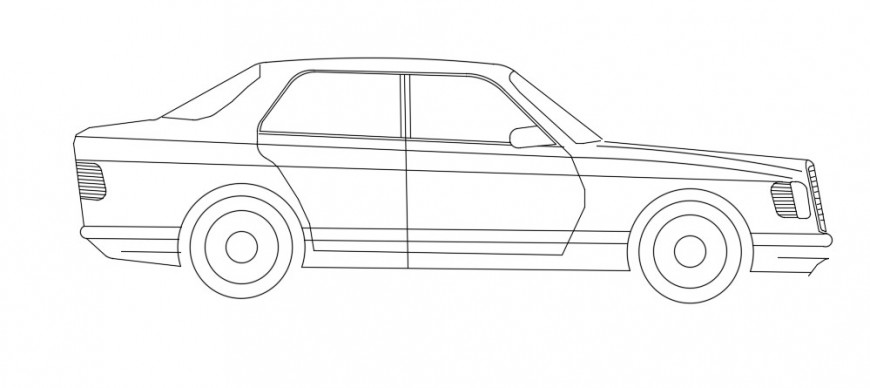 2d car model design dwg file