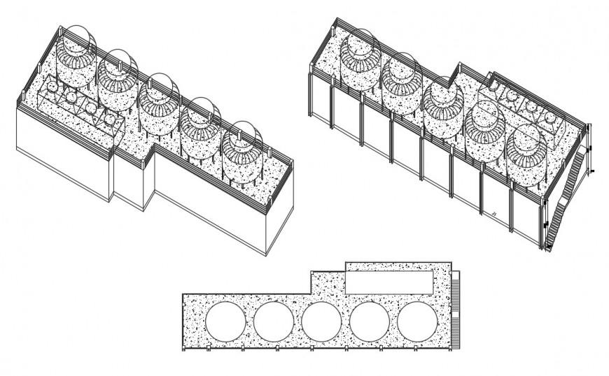 2d chiller building autocad file